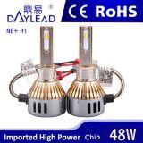 세륨 RoHS ISO9001 증명서를 가진 6000k 4800lm LED 헤드라이트