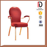 Soins de santé Imitated Wood Grain Restaurant Restaurant Armrest Chair for Elderly
