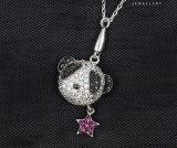 00168의 형식 별 표를 가진 귀여운 개 동물성 보석 펀던트 목걸이
