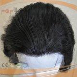 Parrucca piena del merletto Braizlian del merletto legata mano dei capelli umani dei capelli neri di Fornt