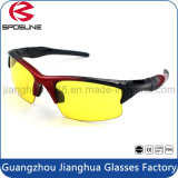 保護目の紫外線400の夜間視界ガラス黄色いレンズのテニスのバレーボールの実行の上昇のサングラスを妨げる反放射の青いライト
