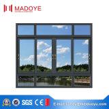 Australien-doppeltes glasig-glänzendes Wind-Beweis-schiebendes Aluminiumfenster in China