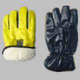 Прокатанная нитрилом польностью акриловая перчатка работы зимы подкладки кучи