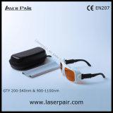Gafas de seguridad láser para eliminar tatuajes 200-540nm y 900-1100nm disponibles para: 532nm y 1064nm con bastidor 36