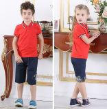 Personalizzare l'uniforme scolastico dei capretti di asilo dei pannelli esterni pieghettato Shorts delle camice del banco