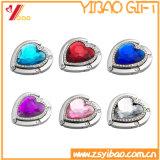 Form fertigen faltbaren Beutel-Haken mit Diamanten für Frauen-Beutel kundenspezifisch an