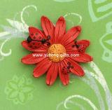 Magnete del frigorifero di Polyresin della scultura del fiore per la decorazione (YH-RFM040)