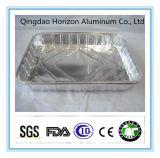 Asas de frango grelhado Placa de alumínio