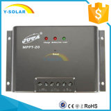 MPPT 20Aの太陽調整装置MPPT-20のための太陽電圧コントローラLED 12V 24Vの自動車