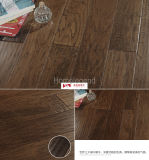 Black Brown Color Handcotted Rustic Hickory Hardwood Flooring Hickory Engineered Wooden Flooring