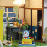 Kid Beautiful Assembly Wooden Toy DIY Doll House with Furniture