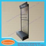 Светлые безпошлинные стоящие стеллажи для выставки товаров и стойки ячеистой сети металла