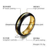 검정과 Gold Tungsten Ring Men Fashion Jewelry Ring