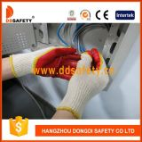 Ddsafety 2017 Beige T/C Knitted Shell Mixed Latex Working Glove