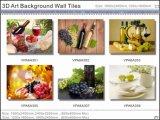 Красивейшей красивейшей плитки предпосылки 3D застекленные стеной (VPA6A309)