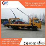 4X2 LHD Dongfeng 3tons 5400mm 편평한 침대 견인 트럭