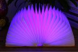 De flexibele Mini Kleurrijke LEIDENE van de Schemerlamp Houten Lichte Spreker van het Boek Bluetooth