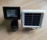 태양 강화된 LED SMD에 의하여 움직임 활성화되는 옥외 안전 투광램프 3W