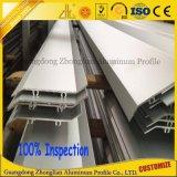 A fábrica de alumínio expulsou os perfis de alumínio da extrusão do obturador oco do rolo da seção