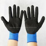 Перчатка безопасности нитрила Sandy связанная Spandex Coated