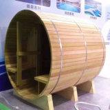 Ronde Tuin 4 van de Vorm Zaal van de Sauna van de Persoon de Openlucht