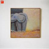 Karikatur-Tier-Baby-Elefant-Ölgemälde