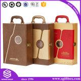 Упаковывать коробки вина PU высокого качества кожаный