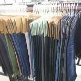 裂かれた洗浄された伸ばされたジーンズのズボン(KHS004)