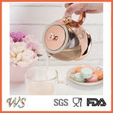 Wschmy044 Rose Gold Color Tea Pot Placage au cuivre Tea Pot Outil de thé et de café