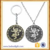 Moneda que hace compras impresa atractiva de encargo Keychain