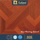 La noix de texture de fibre de bois du ménage 12.3mm a ciré l'étage bordé de Laminbate