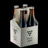 Fábrica chinesa de alta qualidade de duas copas de papelão de papel Kraft com alça Take Away Coffee \ Beer