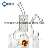 Pipe en verre de modèle de recycleur intéressant de qualité pour fumer (EY002)
