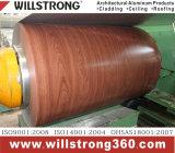 Покрытие из алюминия с катушкой Деревянный шаблон для зерна