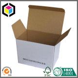 Caixa de empacotamento branca do papel ondulado f flauta de Kraft