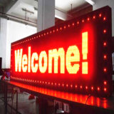 Solo texto Semi-Al aire libre y al aire libre rojo de P10 LED que hace publicidad de la visualización