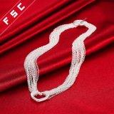 De in het groot Hete Verkopende Halsband van de Tegenhanger van de Vorm van het Hart Zilver Geplateerde