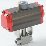 Valvola a sfera idraulica di controllo ad alta pressione dell'azionatore pneumatico