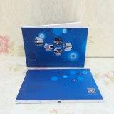 Поздравительная открытка изготовленный на заказ экрана LCD приглашения игрока Mailable видео- для рекламировать