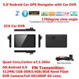 5.0inch емкостные Multi-Касатьются Android PC таблетки навигации GPS автомобиля с 2CH автомобилем DVR, камера автомобиля 5.0mega, WiFi; Bluetooth; FM-Передатчик; Навигатор GPS
