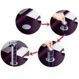 Le coperture di alluminio LED di tensione schioccano in su lo zoccolo da tavolino con le prese dell'Ue del caricatore del USB