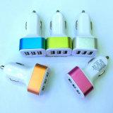 De Lader van Auto drie USB met Verschillende Kleur