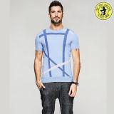Vente chaude en gros du coton Desige T-Shir pour le T-shirt de circuit de chemise des hommes