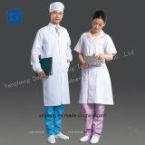 医学の白いコート、長い袖、短い袖、高品質ファブリック
