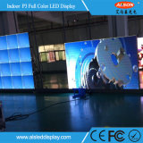 P3mm LED fijo en el interior de la pantalla de pared de vídeo