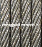 기중기를 위한 직류 전기를 통한 철강선 밧줄 8*31ws+Iwr