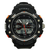 Caso de borracha de borracha Swiss Movement Waterproof Chronograph Decor Watch