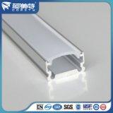 ISO 기준 PVC 덮개를 가진 양극 처리된 U 모양 LED 알루미늄 단면도