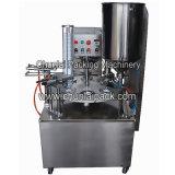 커피 크림통 컵 충전물과 밀봉 기계