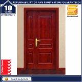 Double porte en bois solide extérieure en bois d'entrée de panneau
